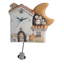 Orologio a Pendolo Casa e Gufi