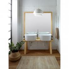 Mobile in legno con specchio per lavabo Tinozza cm 121x193 Tela
