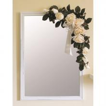 Specchio in Legno Chiaro con Fiori