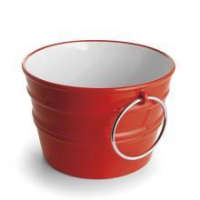 Lavabo Appoggio/Sospeso Tondo Bacile Rosso Passione Lucido