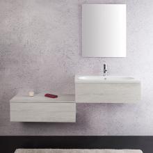 Composizione bagno sospesa cm 160 Unika Olmo Bianco