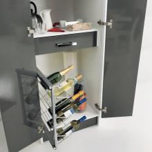 Colonna lavanderia con due ante, due contenitori, tavolo e cantinetta Colf