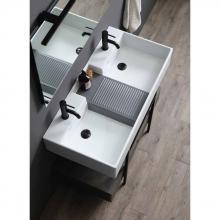 Lavabo da appoggio doppia vasca cm 100x50 Nobu