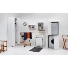 Lavatoio per interni 60x50x86 cm con lavapanni e portabiancheria Jollywash
