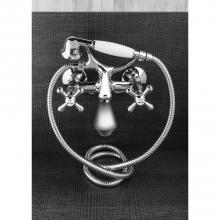 Miscelatore esterno per vasca con accessori doccia Croce