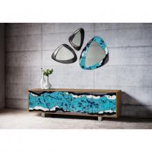 Mobile contenitore di design in legno e pietra lavica Life Oceanside