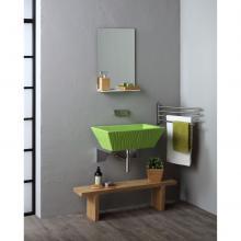 Lavabo Appoggio/Sospeso Rettangolare Pietra Verde Impulso Lucido