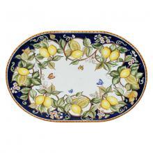 Tavolo in pietra lavica ovale Fantasia di Limoni