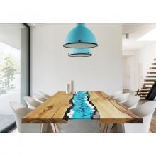 Tavolo moderno in legno e lava incassata Life Oceanside
