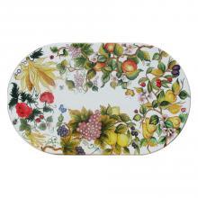 Tavolo in pietra lavica ovale Inglese