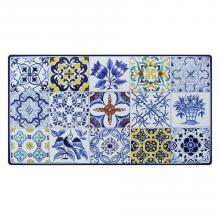 Tavolo in pietra lavica rettangolare Azulejos