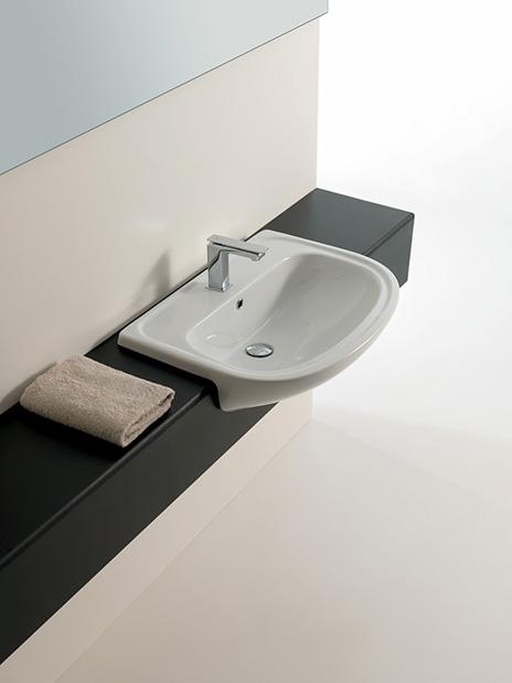 Lavabo semincasso prezzi online di lavabi bagno classici - Rubinetti bagno classici ...