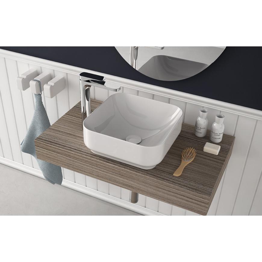 Lavandino lavabo bagno quadrato da appoggio design gi for Amazon lavabos