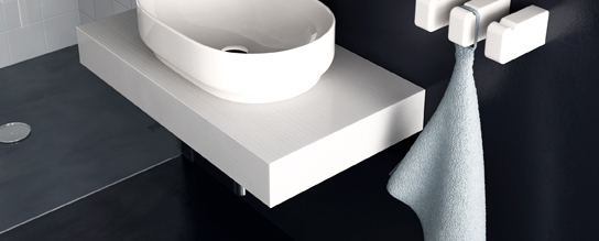 Mensola per lavabo gi for Mensola bianca lucida