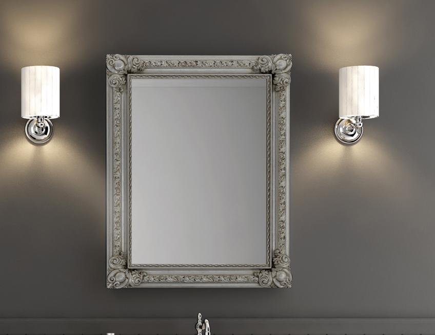 Specchio design opera con cornice in legno ebay - Specchio cornice nera ...