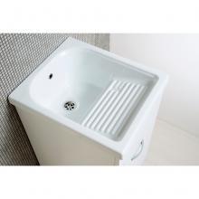 Lavatoio Oceano 45x51 cm con vasca in ceramica