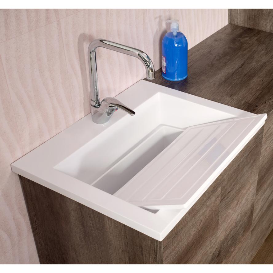 Mobile Bagno Lavandino Incasso dettagli su lavandino lavabo da incasso zeus a doppio uso con tavola  lavatoio in acrilresin