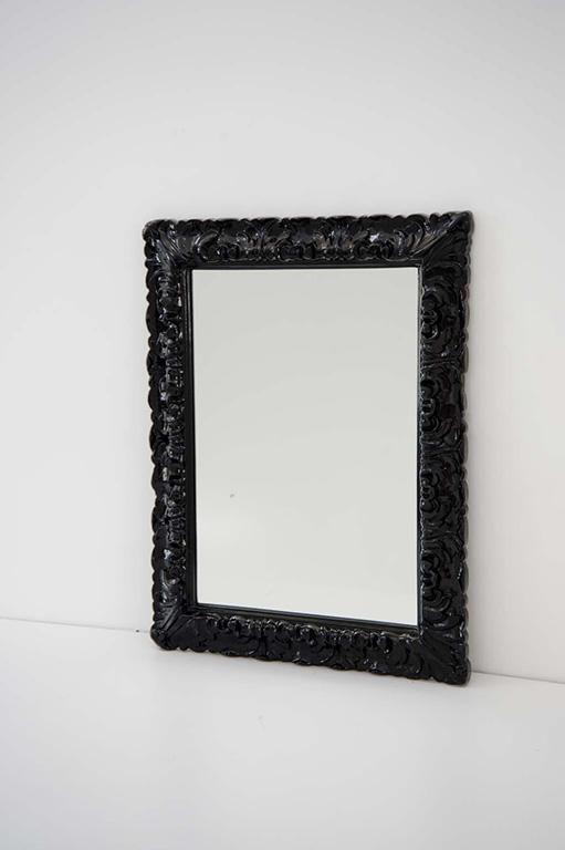 Specchio italiana 70 x 90 cornice nera - Specchio cornice nera ...