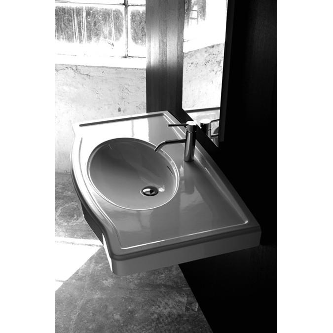 Lavandino lavabo consolle design x one in ceramica bianca 103x56 30 cm ebay - Arreda il tuo bagno ...