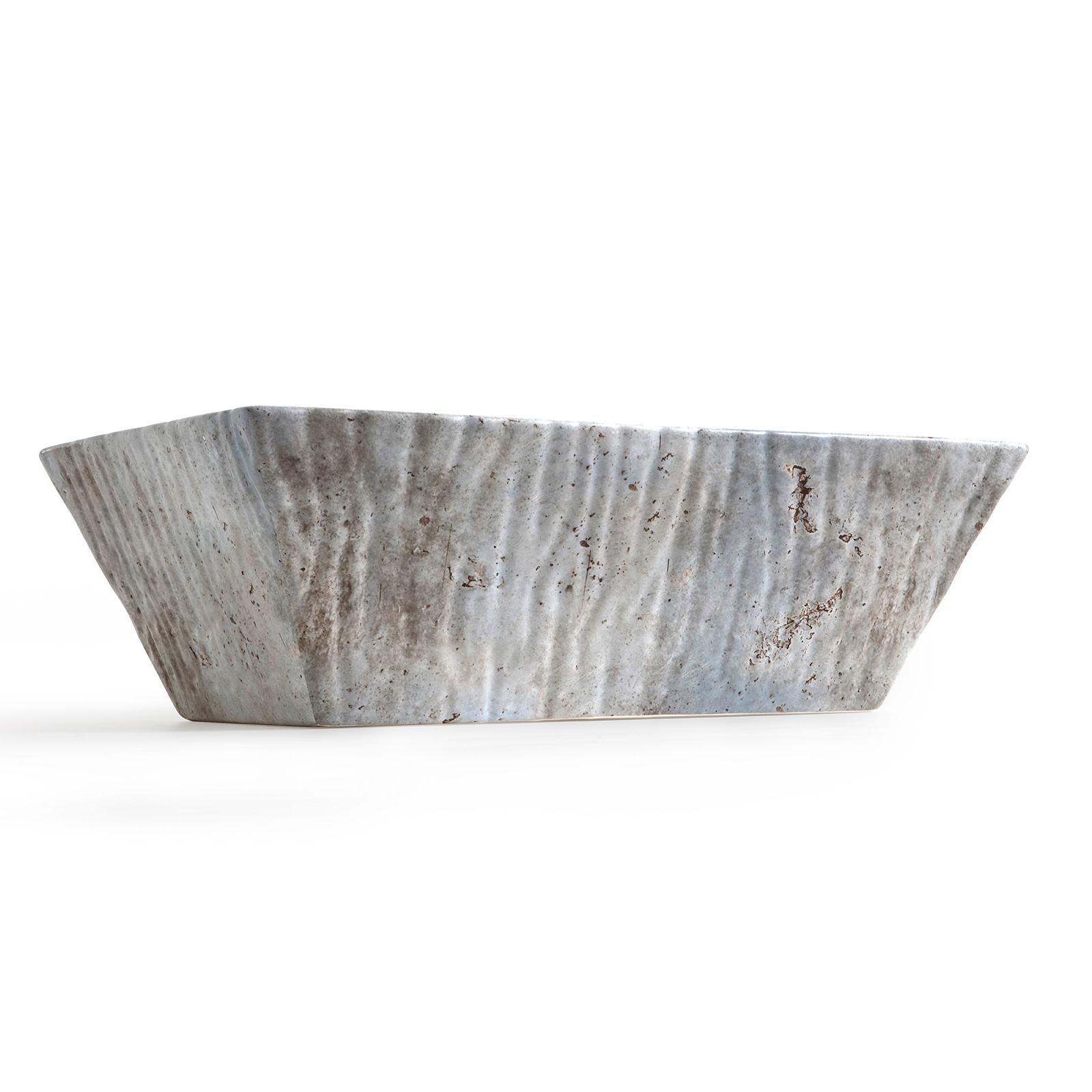 Lavabo Appoggio/Sospeso Rettangolare Pietra Calce