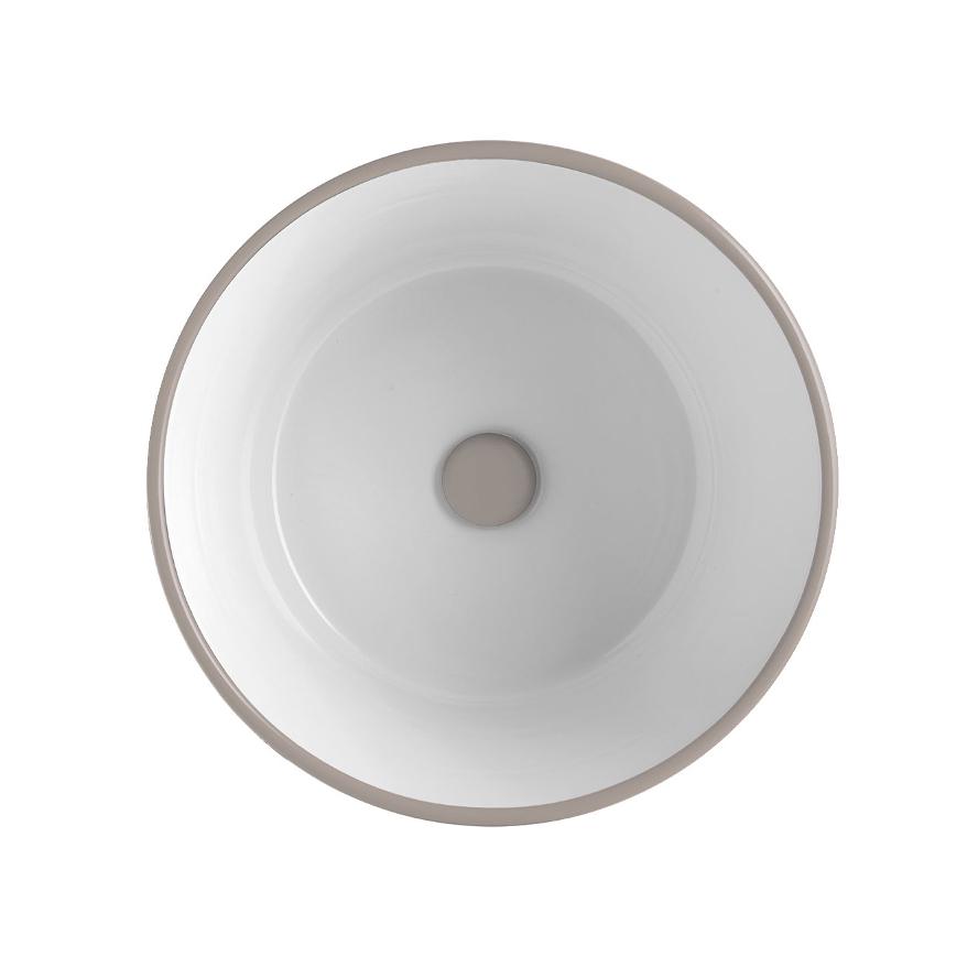 Lavabo Appoggio/Sospeso Tondo Bacile Argilla Opaco