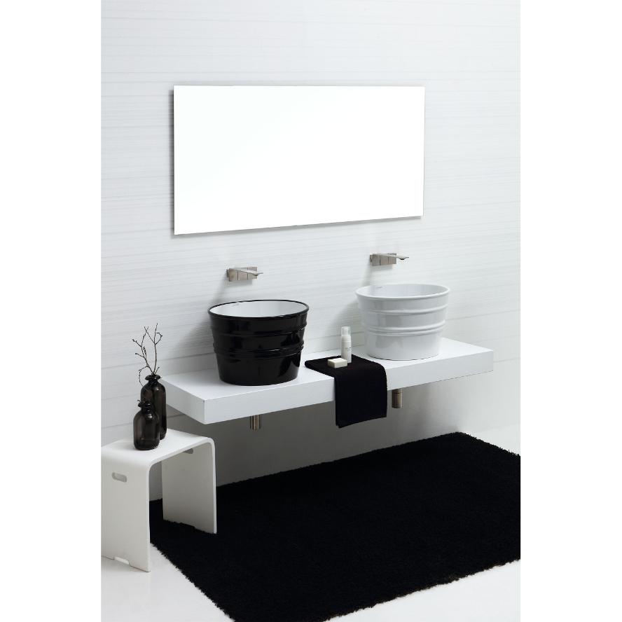 Lavabo Appoggio/Sospeso Tondo Bacile Bianco