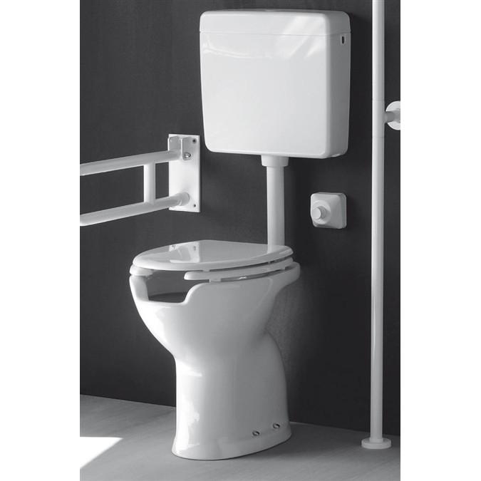 Vaso wc bagno ergonomico per disabili in ceramica bianco for Vaso per disabili