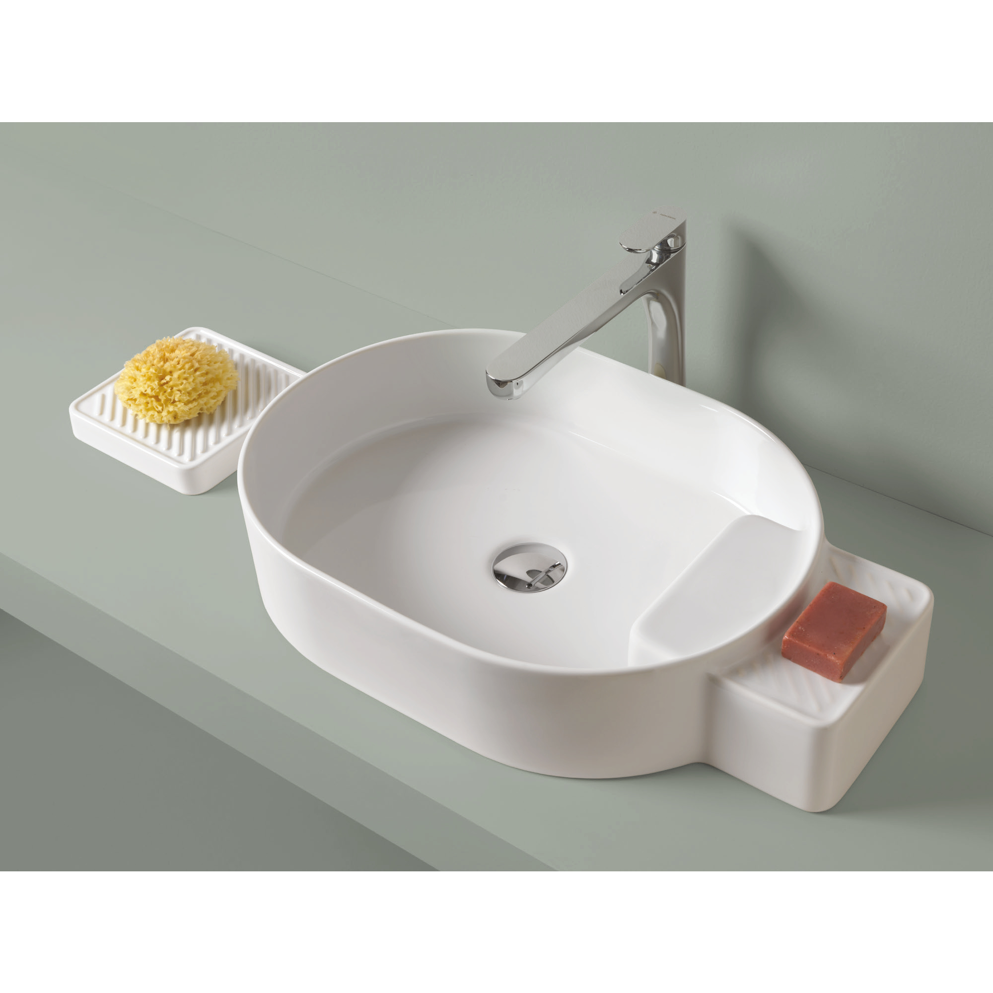 Piano Per Lavabo Da Appoggio dettagli su lavabo lavandino bagno da appoggio design cartesio in ceramica  - vari colori