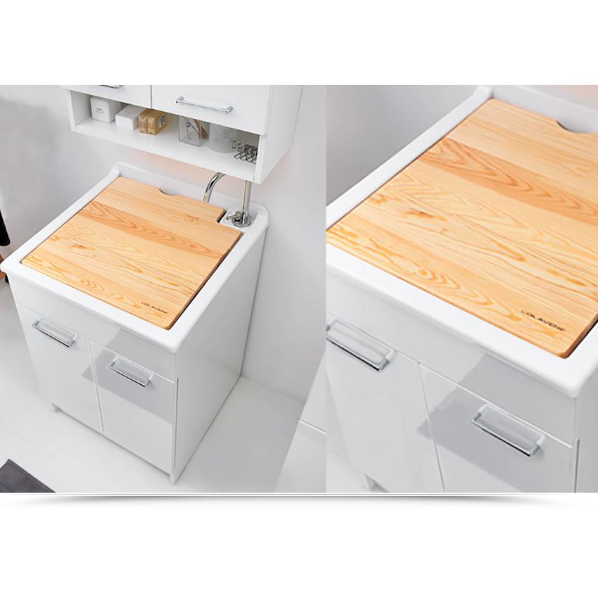 Lavatoio per interni 50x45xH86 con asse lavapanni e due ante Swash