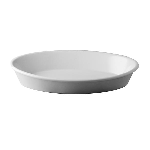 Pirofila Ovale Bordo Liscio Bianco/Bianco