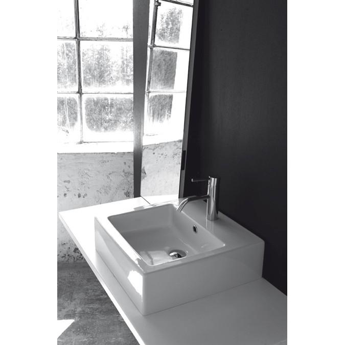 Lavabo appoggio quadro ki ko for Altezza lavabo appoggio