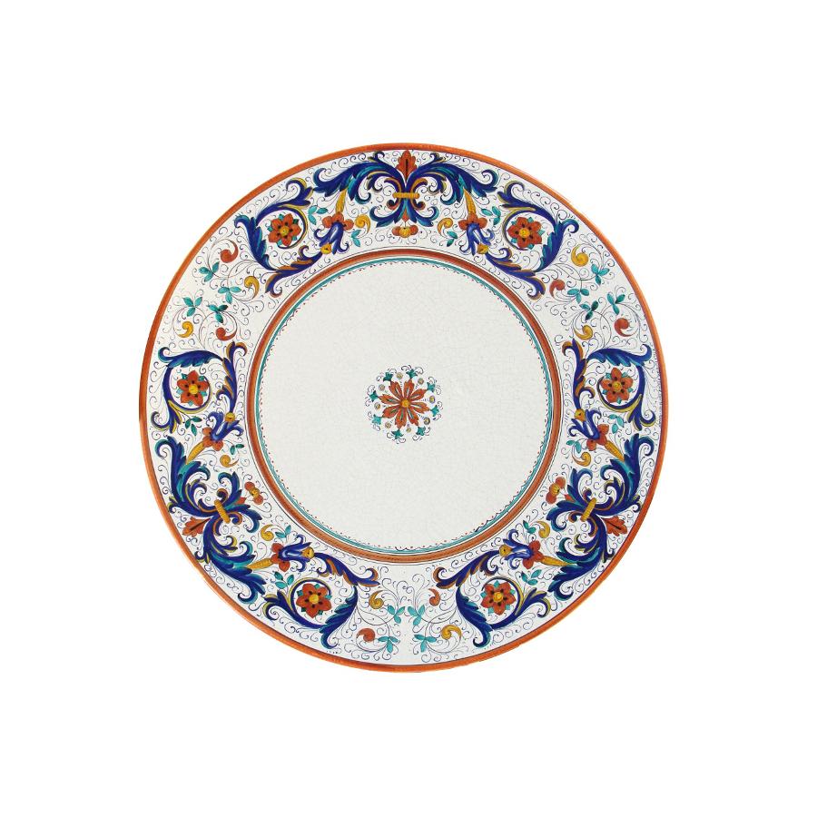 Tavoli Da Giardino Deruta.Tavolo In Pietra Lavica Tondo Ricco Deruta Grandi Maioliche Ficola