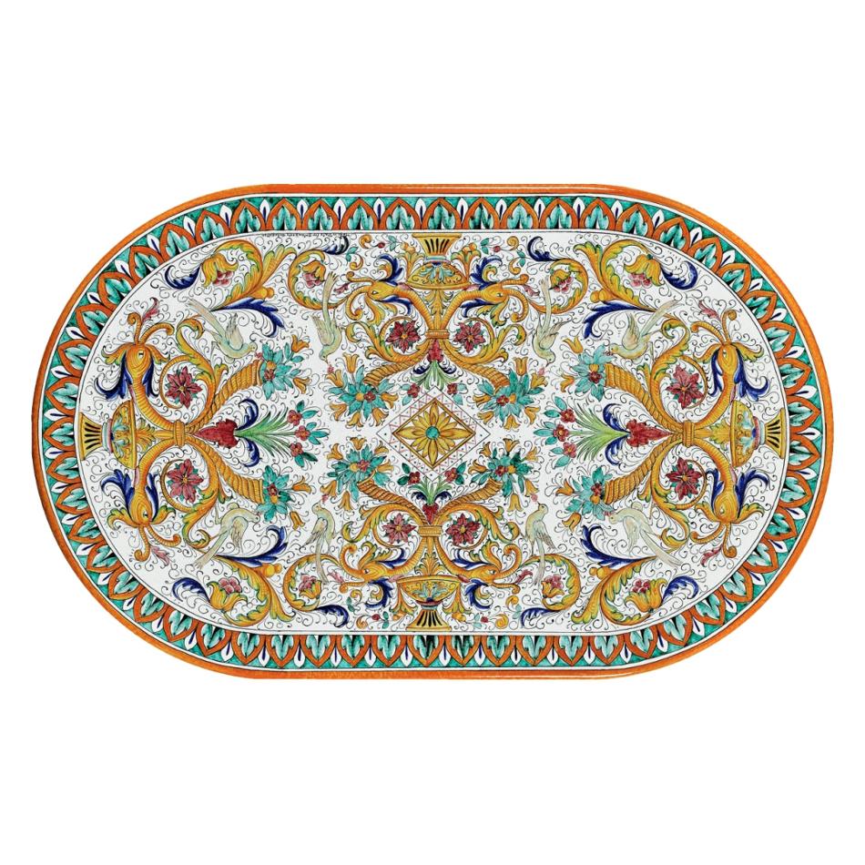 Tavoli Da Giardino Pietra Lavica.Tavoli In Pietra Lavica Ovale Venezia Grandi Maioliche Ficola