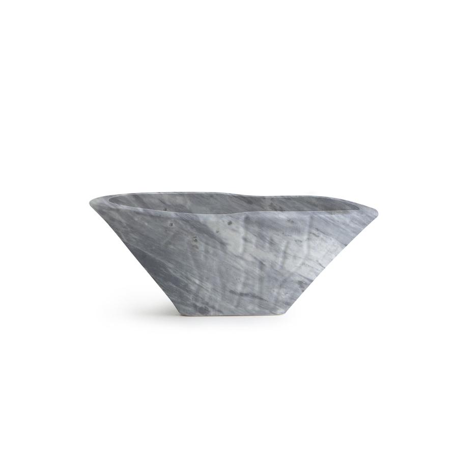 Lavabo Appoggio/Sospeso Ovale Terra Bardiglio