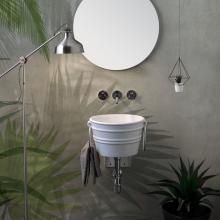 Lavabo Appoggio/Sospeso Tondo Bacile Midi  Bianco