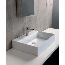 Lavabo Appoggio/Sospeso cm 60 Elegance Squared