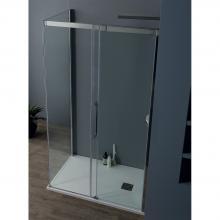 Box doccia angolare cm 115x200  con porta scorrevole 8PSC15