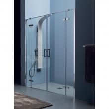 Box doccia a nicchia cm 140x200 con porta battente doppia 8MILL INFINITY