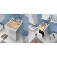 Lavatoio per interno 45x50xH86 con cestello portabiancheria Jollywash