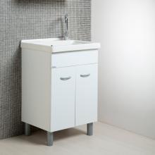 Mobile lavanderia bianco + ceramica 60x50 Onda