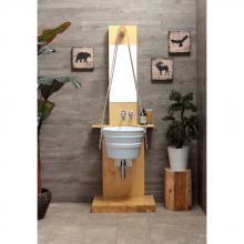 Struttura in legno  per lavabo Bacile Pozzo