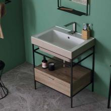 Lavabo in ceramica appoggio/sospeso 70x50 Trix