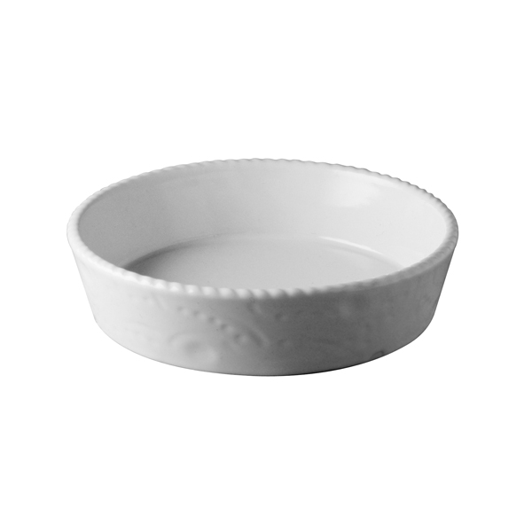 Tortiera Cordonata Bianco/Bianco